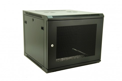 "Wall Mountable 19"" Rack Cabinets with Perforated Steel Door"